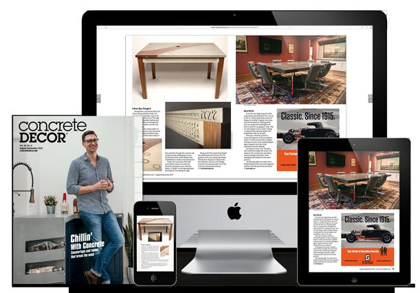 Concrete Decor magazine advertising opportunities